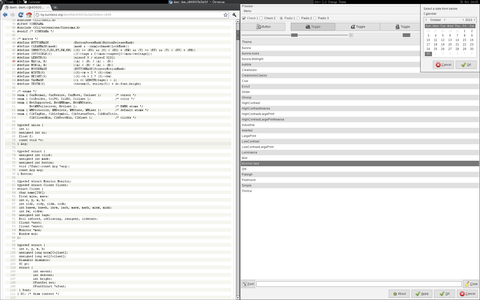 Screenshot of gtk engine murrine: murrine-rape theme